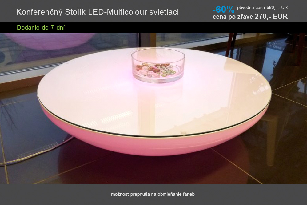 12 Konferencny Stolik LED-Multicolour